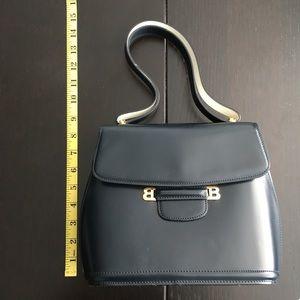 Vintage Bally handbag, smooth Navy leather